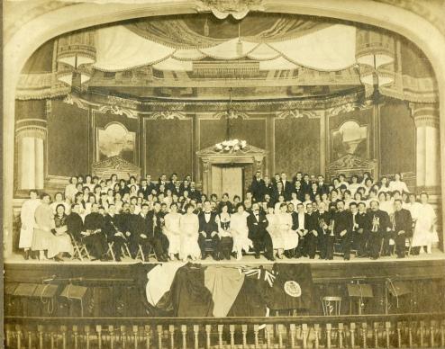 st.lambert amateur operatic society academy hall étage ancien hôtel ville vers 1920 (env. 657 grand format orig.) copie